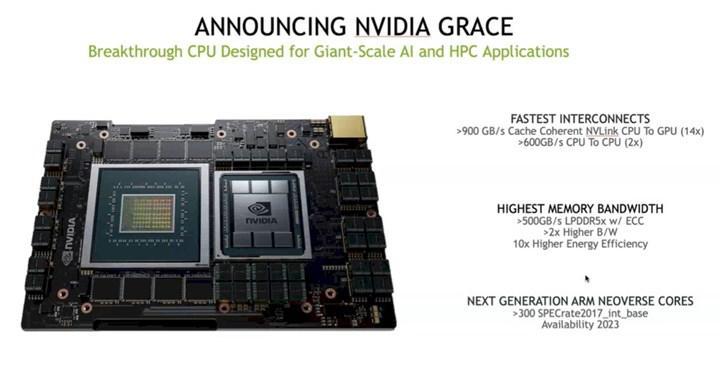 Nvidia yeni ARM tabanlı sunucu işlemcisini duyurdu