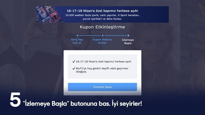 BluTV önümüzdeki 3 gün boyunca ücretsiz olarak hizmet verecek