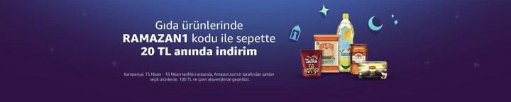 Amazon.com.tr'de gıda ürünlerinde Ramazan'a özel 20 TL indirim kodu