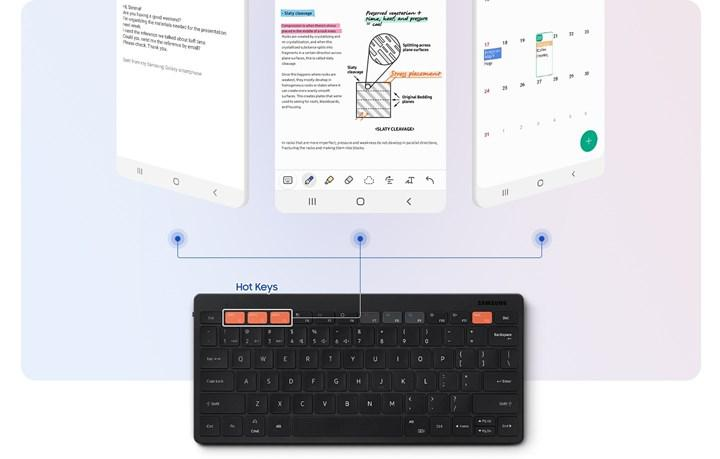 Samsung's new wireless keyboard that can connect to three devices at the same time appears