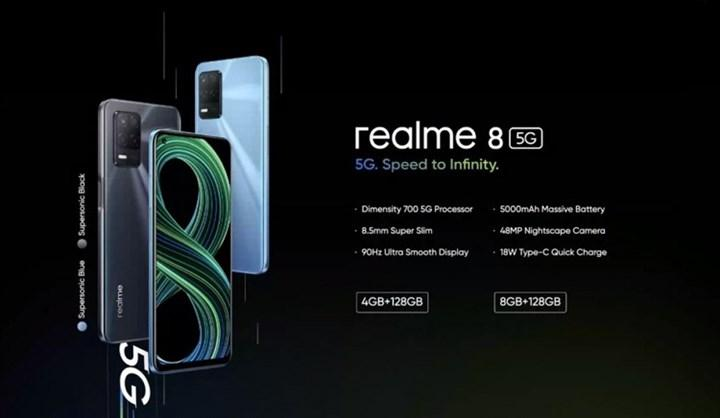 Realme 8 5G officially introduced: Dimensity 700 processor and 90 Hz display
