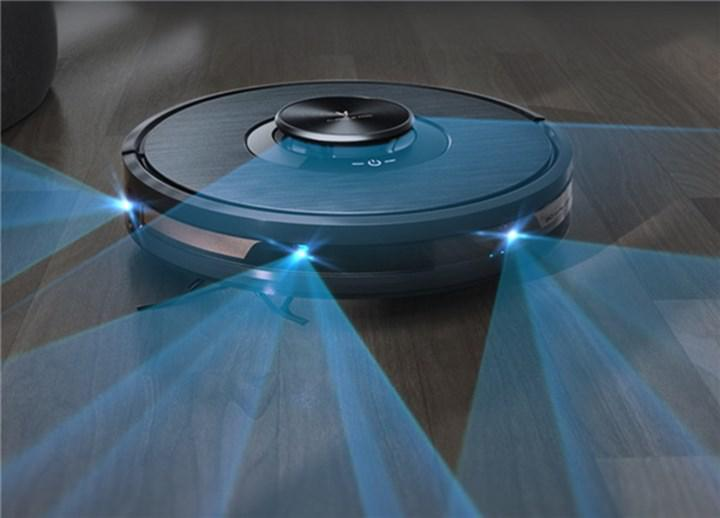 Viomi Alpha 2 Pro robot süpürge geniş bir alanı görebiliyor