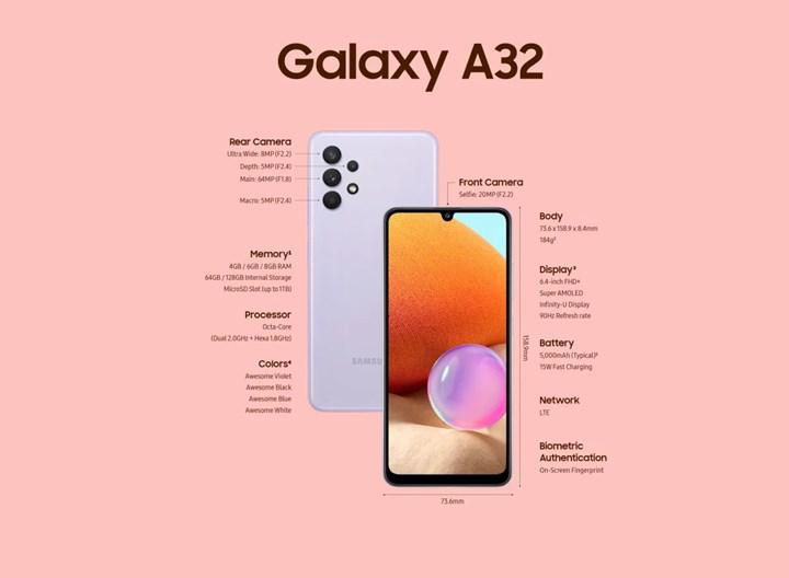 Galaxy A32 raflardaki yerini aldı