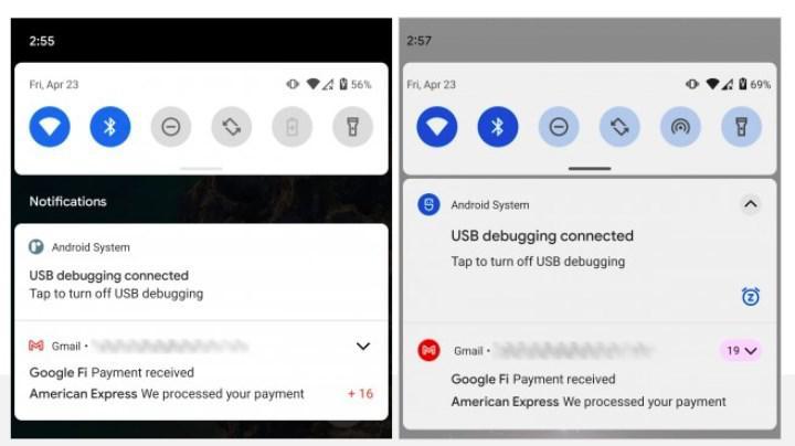 Android 12'de bildirimlerin tasarımı değişecek
