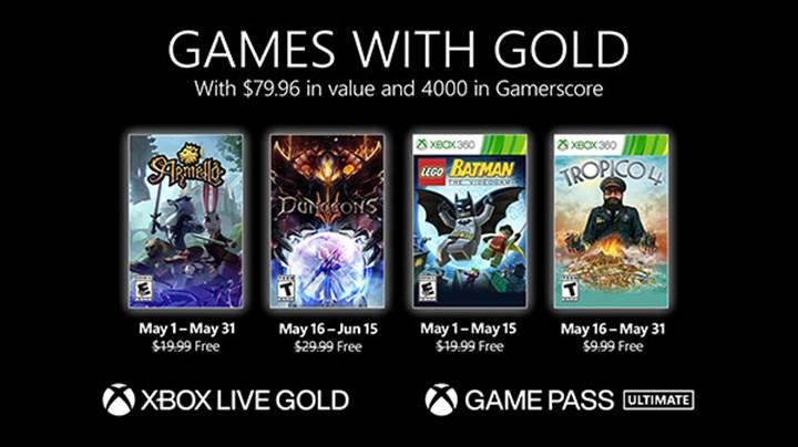 Xbox Live Gold üyelerine Mayıs ayında verilecek ücretsiz oyunlar belli oldu