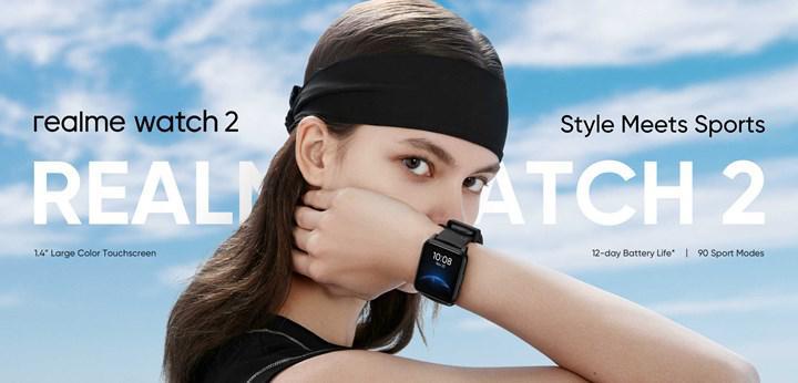 Realme Watch 2 tanıtıldı: SpO2 ölçümü, 90 spor modu ve 12 gün pil ömrü