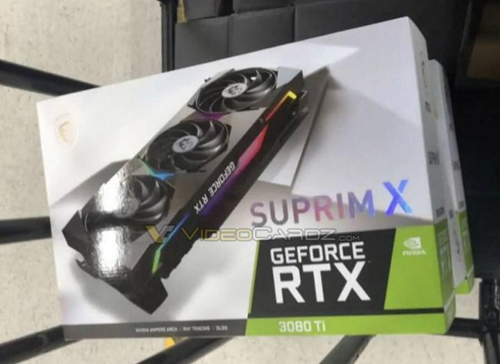 MSI RTX 3080 Ti Suprim X'in kutusu görüntülendi