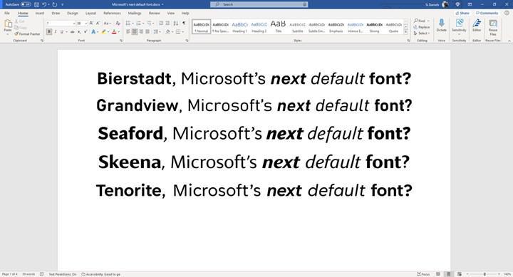 Microsoft Office'in standart yazı tipi 15 yılın ardından değişiyor