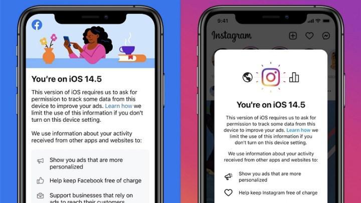 Facebook ve Instagram, iOS kullanıcılarına gözdağı vermeye başladı