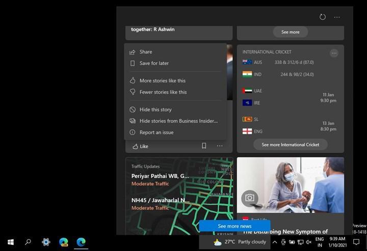 Windows 10 görev çubuğununa güncelleme geldi