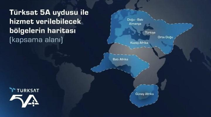 Türksat 5A yörüngeye yerleşti