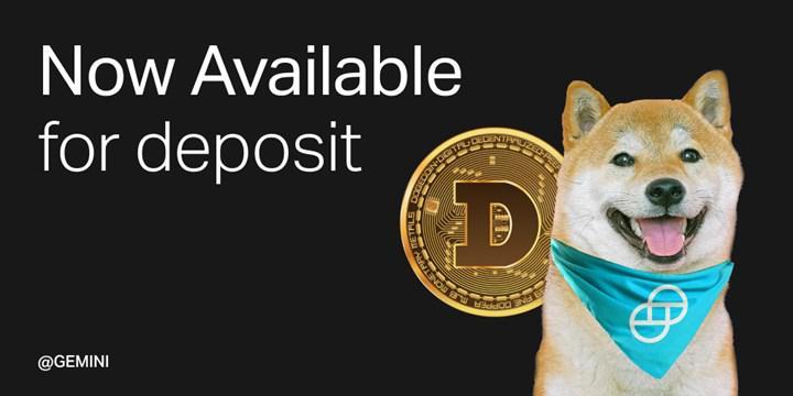 Dogecoin (DOGE) popüler kripto para borsası Gemini'de listelenecek