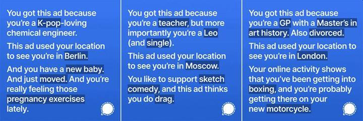 Signal, verdiği reklamlarla Facebook'u trolleyince apar topar engellendi