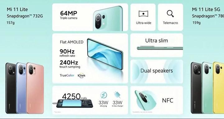 Xiaomi Mi 11 ve Mi 11 Lite ülkemizde satışta