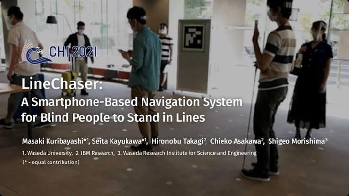 LineChaser görme engelliler için sosyal mesafeyi ayarlayacak
