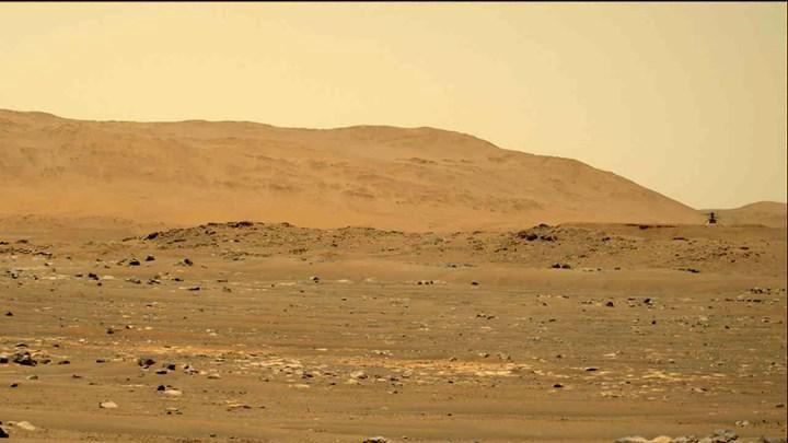 Mars helikopterinden müthiş video: Helikopterin sesini duyun