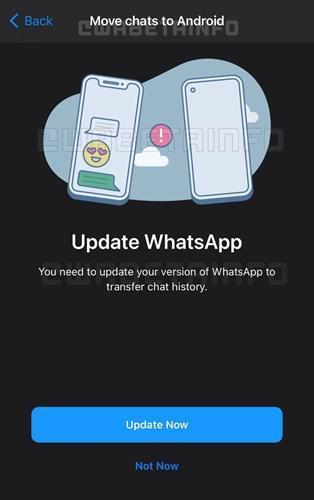 WhatsApp, Android ve iOS cihazlar arasında sohbet geçmişi aktarmayı test ediyor