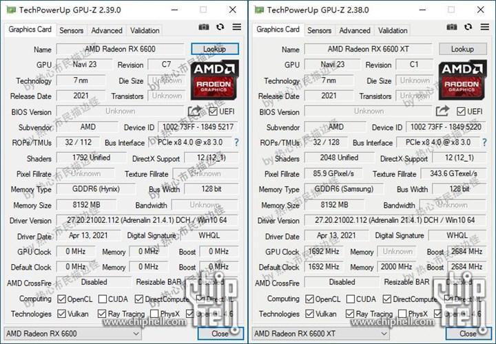 RX 6600/XT GPU-Z'de doğrulandı