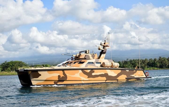 Endonezya'dan sahil güvenlik botuyla tankı harmanlayan deniz aracı: Tank Bot!