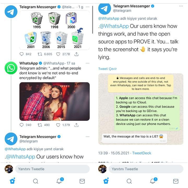 WhatsApp ve Telegram sosyal medyada kavgaya tutuştu