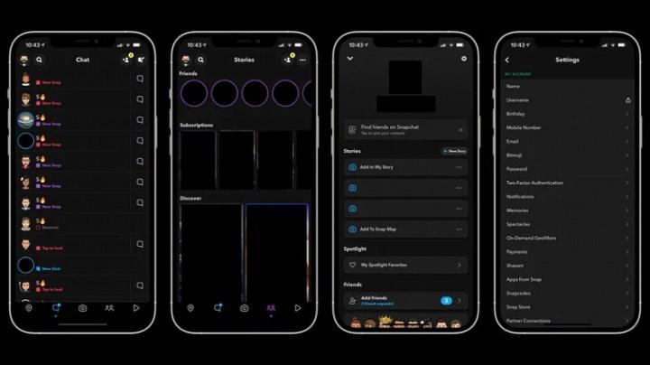 Snapchat'in iOS versiyonu, karanlık mod özelliğine kavuşuyor