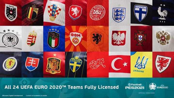 PES 2021'in Euro 2020 takım güncellemesi haziran sonuna kadar gelmeyecek