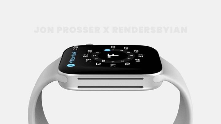 Apple Watch Series 7'nin olası tasarımını gösteren render görüntüleri yayınlandı