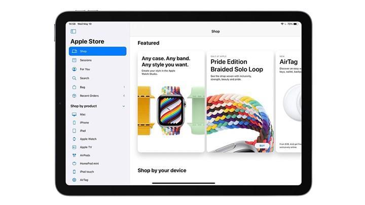 İPad için Apple Store uygulaması yeni görünüme kavuştu