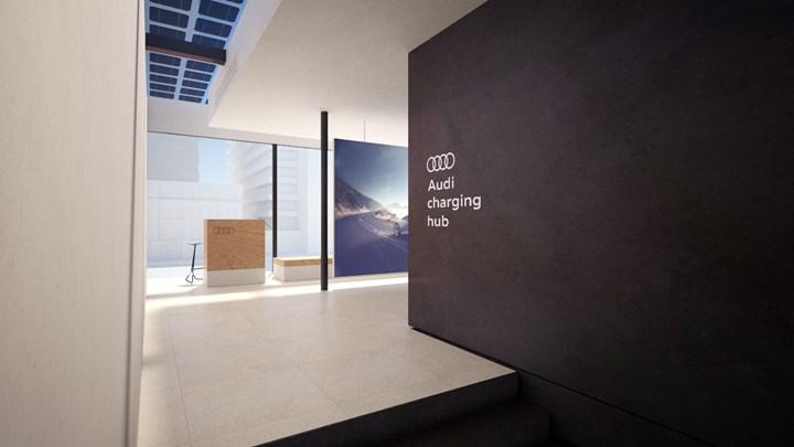 Audi, pille çalışan kendi kendi şarj istasyonunu geliştiriyor