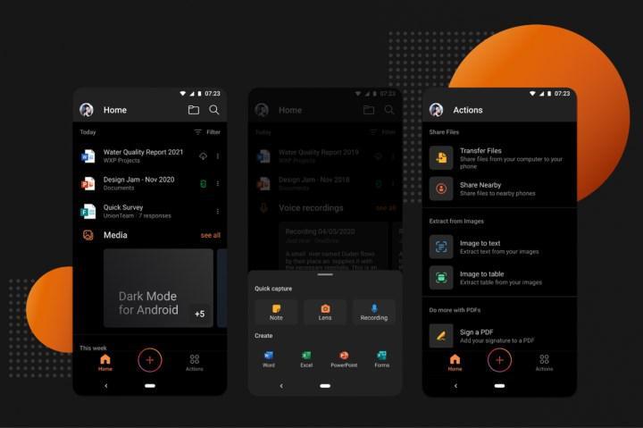Microsoft Office Android için karanlık mod geldi