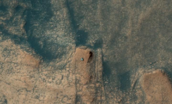 Curiosity'nin yörüngeden çekilmiş fotoğrafı