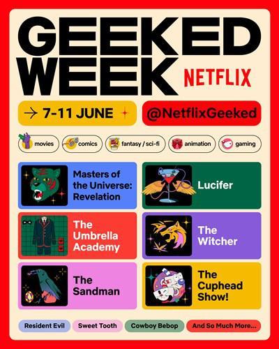 Netflix, NetflixGeeked etkinliğini duyurdu