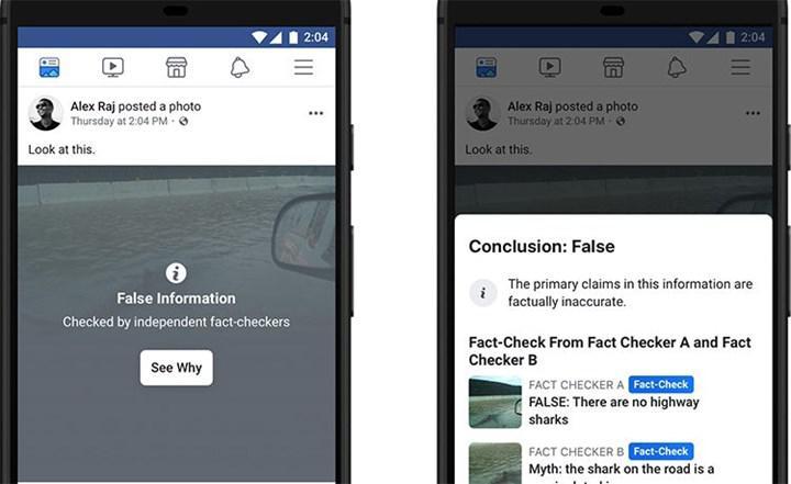 Facebook yanlış bilgiye karşı harekete geçti