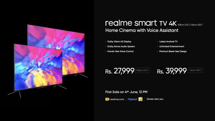 Realme Smart TV 4K serisi tanıtıldı