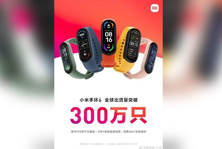 Xiaomi Mi Band 6 satışları 3 milyonu geçti