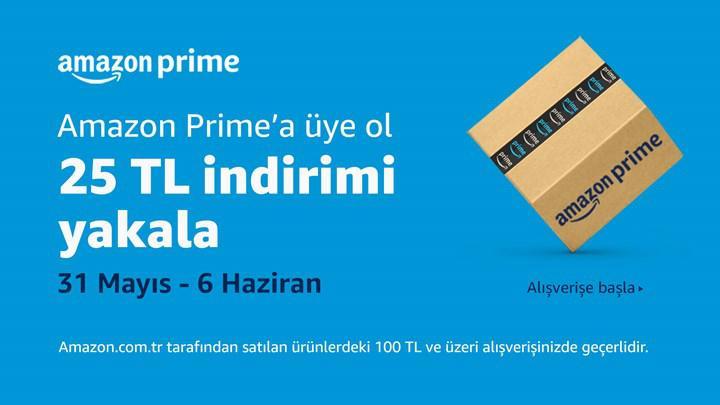 Amazon Prime'a yeni üye olan DH'lilere özel 25 TL indirim kodu