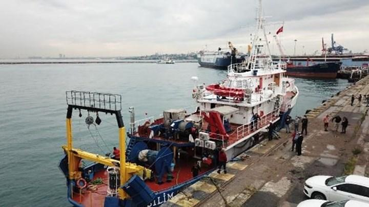 Deniz salyasını araştıran ODTÜ'nün araştırma gemisi karaya döndü