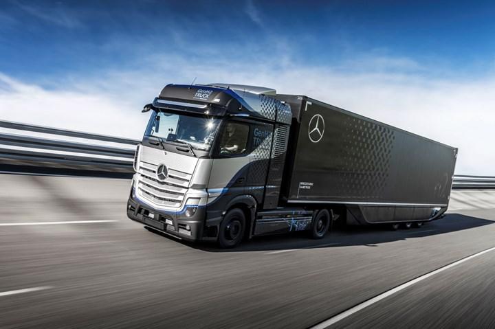 Yakıt hücreli Mercedes-Benz GenH2 Kamyon'un kapsamlı testlerine başlandı