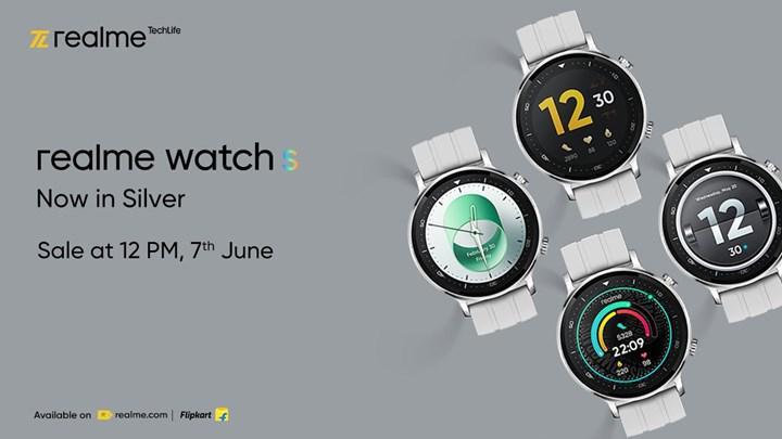Realme Watch S gümüş renk seçeneğine kavuşuyor