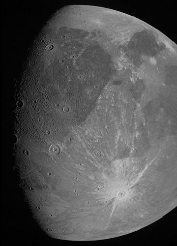Jüpiter'in dev uydusu Ganymede 'yakından' görüntülendi: 21 yıl sonra bir ilk