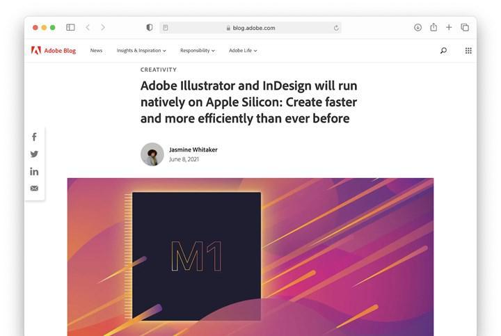 Adobe'nin popüler yazılımları Apple M1 için optimize edildi: Hız artışı %80'e ulaşıyor