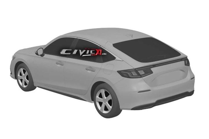 Yeni 2022 Honda Civic Hatchback'in tasarımına ilişkin ipucu görseli paylaşıldı