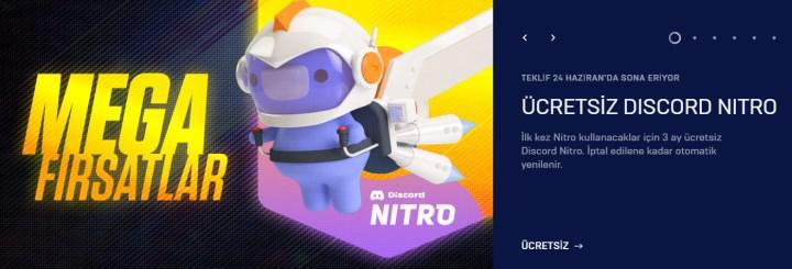 Epic, 3 aylık Discord Nitro dağıtıyor