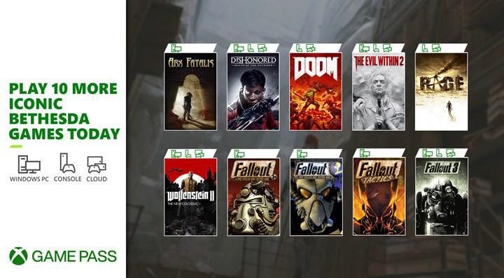10 farklı Bethesda oyunu bugün Xbox Game Pass'e eklendi
