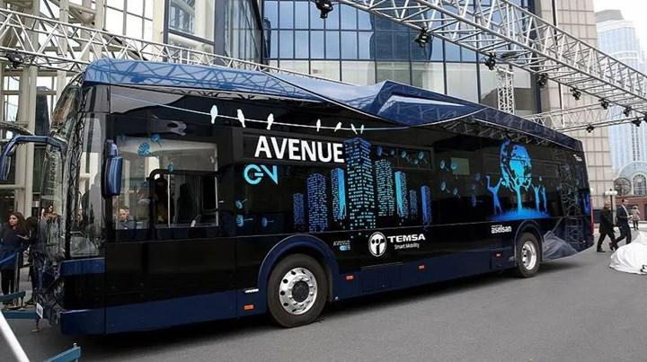 TEMSA-ASELSAN ortak üretimi yerli elektrikli otobüs banttan indi