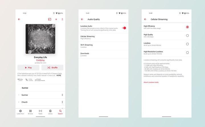 Apple Music'in Android uygulamasına Uzamsal ve Kayıpsız Ses desteği geldi