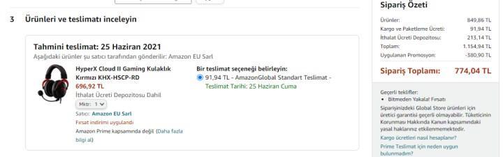 Amazon'da Prime Day indirimli yurt dışı ürünler