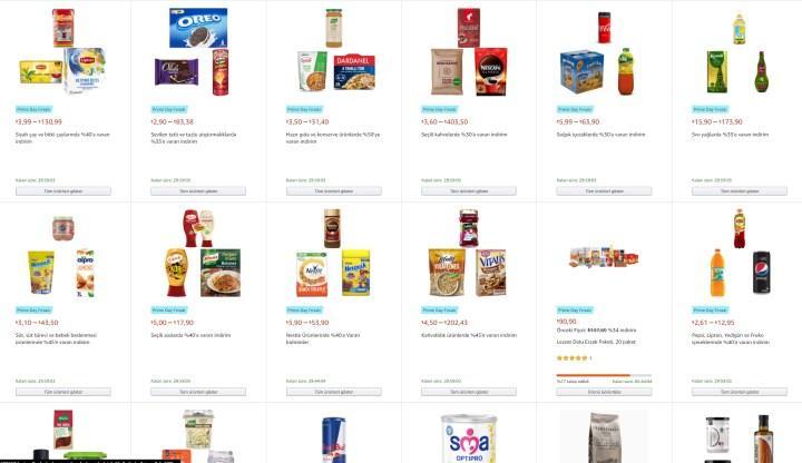 Süpermarket ürünlerinde Prime Day indirimi