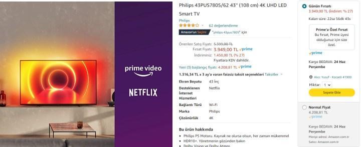 Uygun fiyatlı Philips TV modelleri