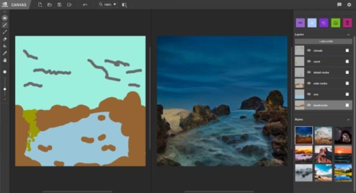 Nvidia'nın çizimleri tabloya dönüştüren Canvas uygulaması yayınla